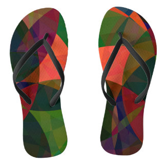 Tropical forest abstract jandals