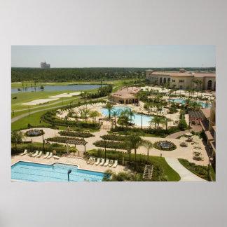 Tropical Golf Resort Print