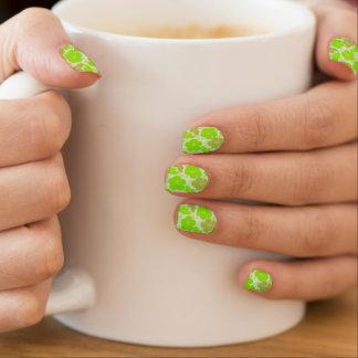 Tropical Green Hibiscus Minx Nail Art