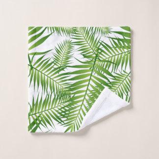 Tropical Green Leaves Bath Towel Set
