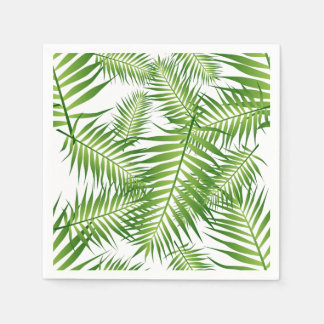 Tropical Green Leaves Disposable Napkin