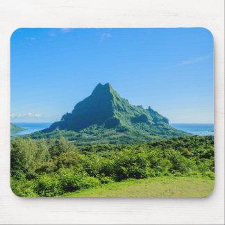 Tropical green Moorea mousepad