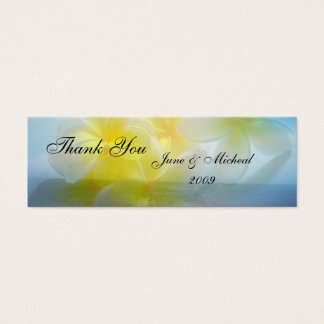 Tropical Haven Wedding Mini Business Card