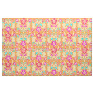 Tropical Hawaiian damask Fabric