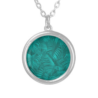 Tropical Hawaiian Pattern Silver Plated Necklace