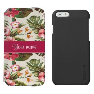 Tropical Hibiscus Flowers Pattern Incipio Watson™ iPhone 6 Wallet Case