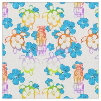 Tropical Honu And Tiki Fabric