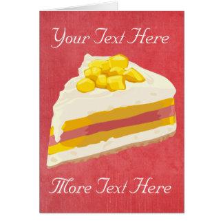 Tropical Ice Cream Cake Card