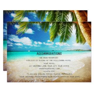 Tropical Island Beach Wedding Accommodation Cards