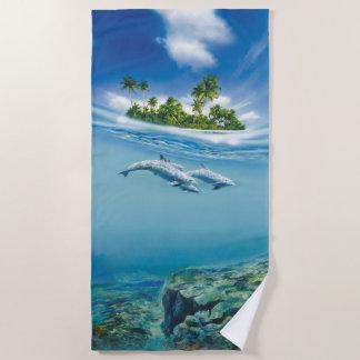 Tropical Island Fantasy Beach Towel