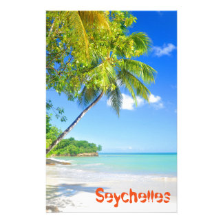 Tropical island in Seychelles Stationery