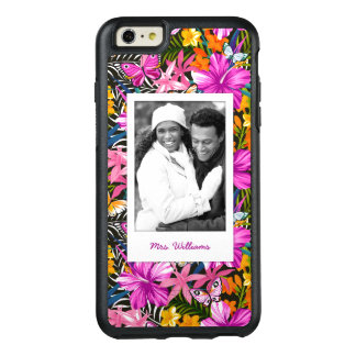 Tropical Leaves & Flowers | Add Your Photo & Name OtterBox iPhone 6/6s Plus Case