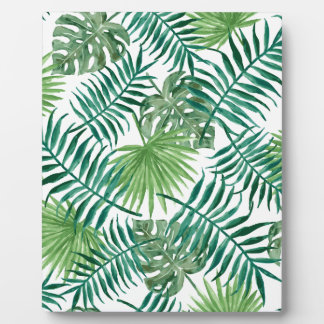Tropical Leaves pattern Plaque