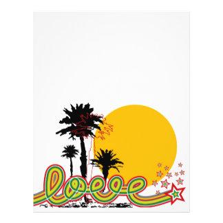 Tropical Love Palm Trees Beach Summer Sunset Flyer