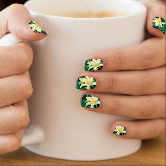 Tropical lush floral minx nail art
