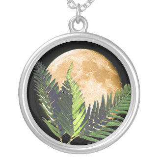 Tropical Moonlight Silver Plated Necklace