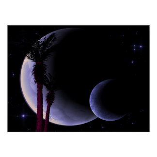 Tropical Moons Poster