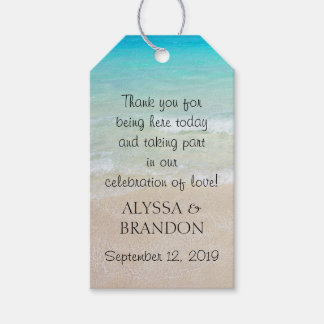 Tropical Ocean Wedding Thank You Favor Tags