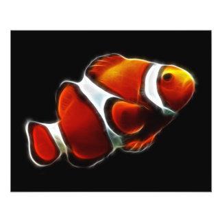 Tropical Orange Clownfish Clown Fish Custom Flyer