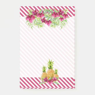 Tropical Orchids Ferns Pineapples Post-it Notes