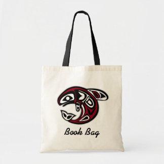 Tropical pacific salmon book bag