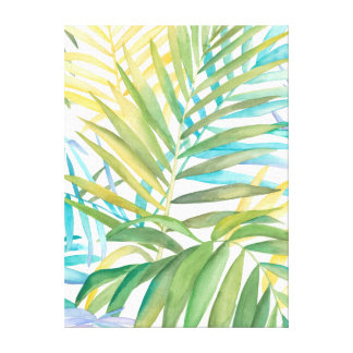 Tropical Palm Leaves Canvas Print