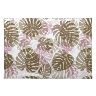 Tropical Palm Leaves Pattern Placemat