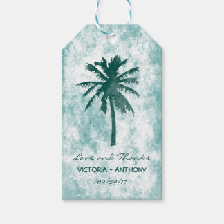 Tropical Palm Tree Beach Wedding Thank You