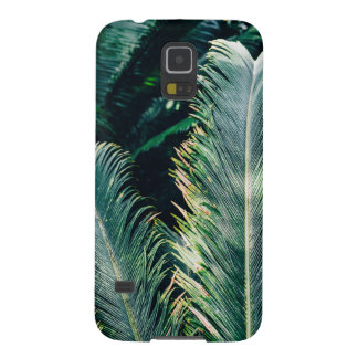 Tropical Palm Tree Leaves, Exotic Photograph Case For Galaxy S5