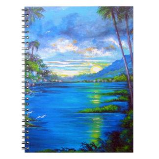Tropical Palms Blue Notebooks