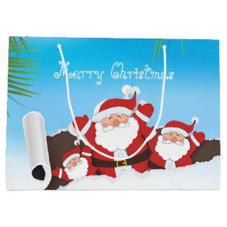 tropical Santa gift bag