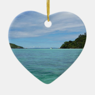 tropical sea ceramic heart decoration