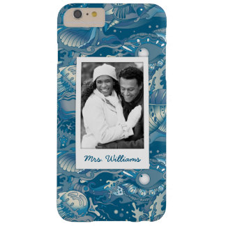 Tropical Sea Pattern | Your Photo & Name Barely There iPhone 6 Plus Case