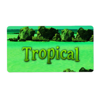 TROPICAL SHIPPING LABEL