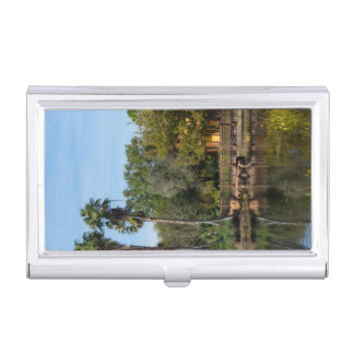 Tropical Springs Paradise Business Card Holder