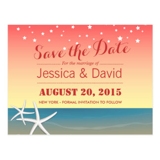 Tropical Summer Wedding Save the Date Postcard