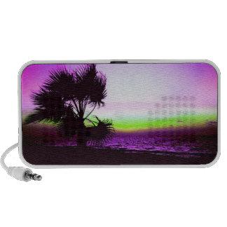 Tropical Sunset Laptop Speaker
