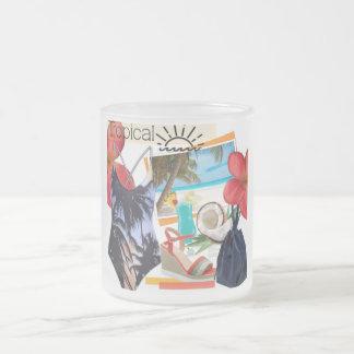 tropical theme mug