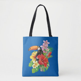 Tropical Toucan All-Over-Print Tote Bag