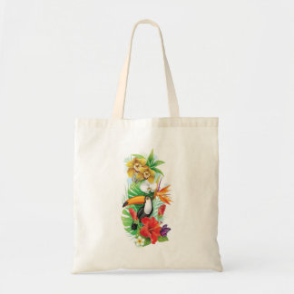 Tropical Toucan (left) Budget Tote Bag