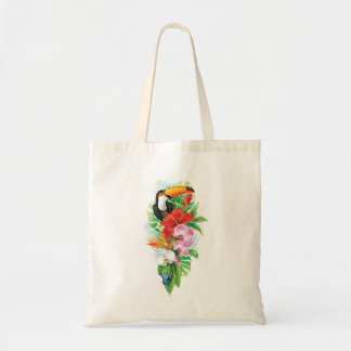 Tropical Toucan (right) Budget Tote Bag