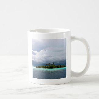 Tropical Treasure Cove Island Basic White Mug