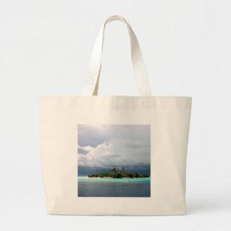 Tropical Treasure Cove Island Jumbo Tote Bag