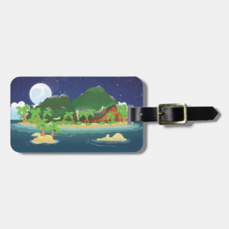 Tropical Treasure Island Bag Tag
