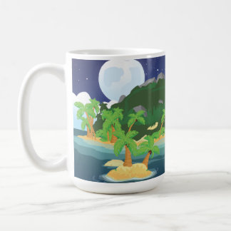 Tropical Treasure Island Basic White Mug
