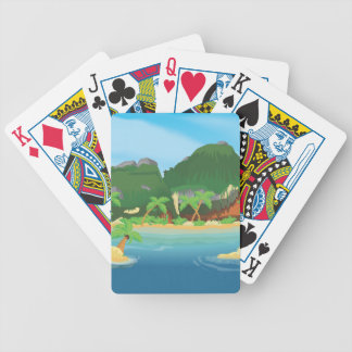 Tropical Treasure Island Bicycle Playing Cards