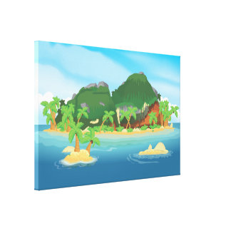 Tropical Treasure Island Stretched Canvas Prints