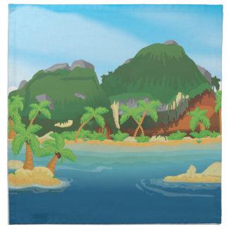 Tropical Treasure Island Napkin