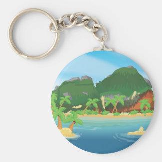 Tropical Treasure Island Key Ring