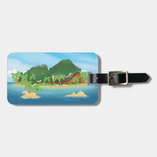 Tropical Treasure Island Luggage Tag